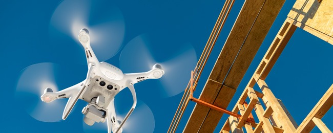 Drones in construction projects near you