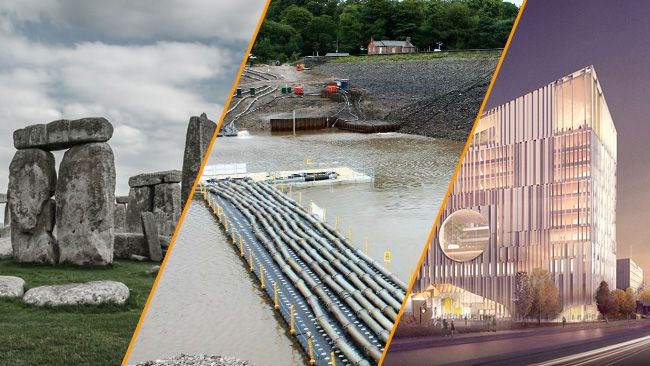 What's Hot – Stonehenge Tunnel, Toddbrook Dam and University of Portsmouth